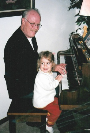 Duet with hostess' granddaughter